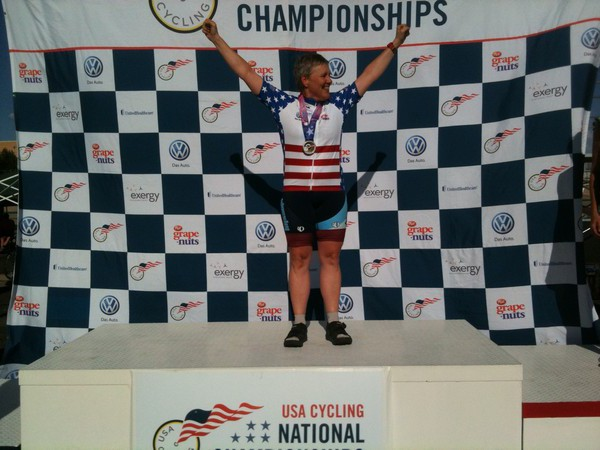 National Champion in SW55-59 Scratch Race